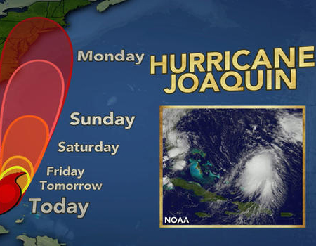 Hurricane Joaquin Path